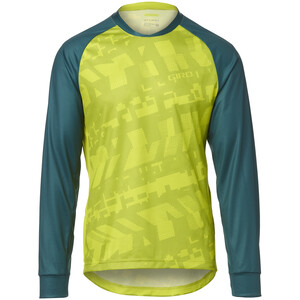 Giro Roust Pitkähihainen Jersey Miehet, citron green fanatic citron green fanatic