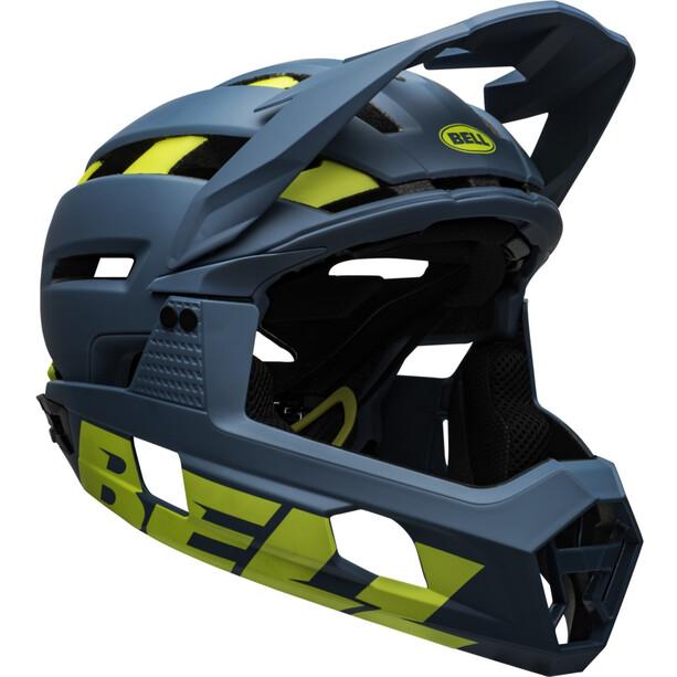 Bell Super Air R MIPS Helmet matte/gloss blue/hi-viz