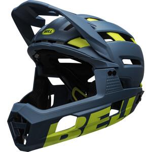 Bell Super Air R MIPS Helmet matte/gloss blue/hi-viz matte/gloss blue/hi-viz