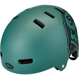 BELL Local ヘルメット マット グリーン/ブラック スカル