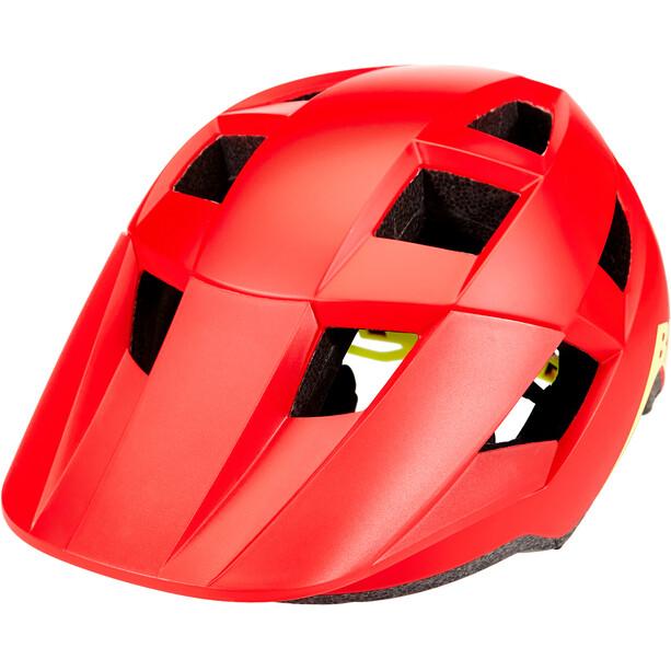 Bell Spark Helm Kinder matte/gloss red/hi-vis