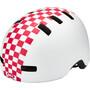 matte white/pink check