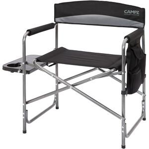 CAMPZ Faltstuhl mit Seitentisch schwarz/grau schwarz/grau