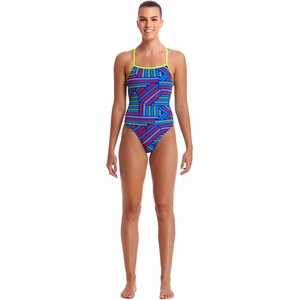 Funkita Strapped In One Piece Badeanzug Damen chain reaction chain reaction