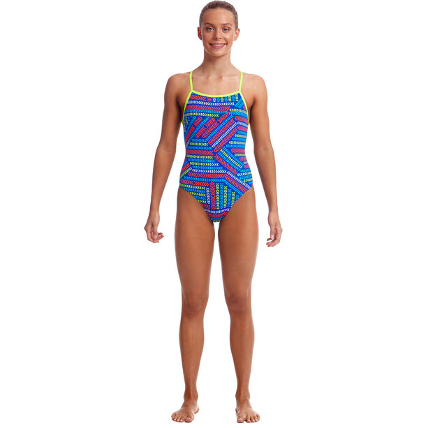 Funkita Strapped In One Piece Badeanzug Mädchen chain reaction