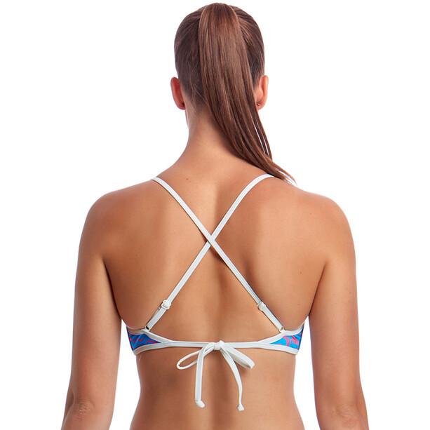Funkita Cross Back Tie Bikini Top Damen fluff ball