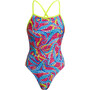 Funkita Eco Tie Me Tight One Piece Badeanzug Damen squeaky squid