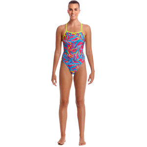 Funkita Eco Tie Me Tight One Piece Badeanzug Damen squeaky squid squeaky squid