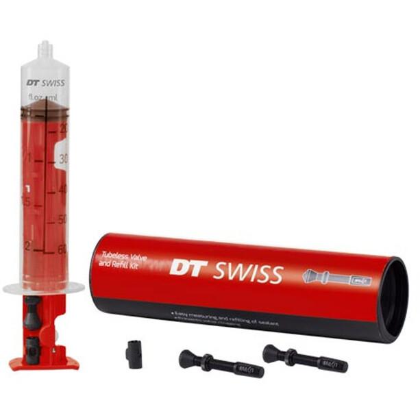 DT Swiss Tubeless Ventil- og påfyldningssæt 55mm