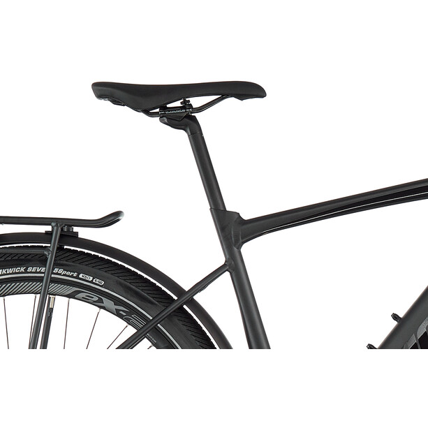 Giant FastRoad E+ EX Pro solid black gloss matte