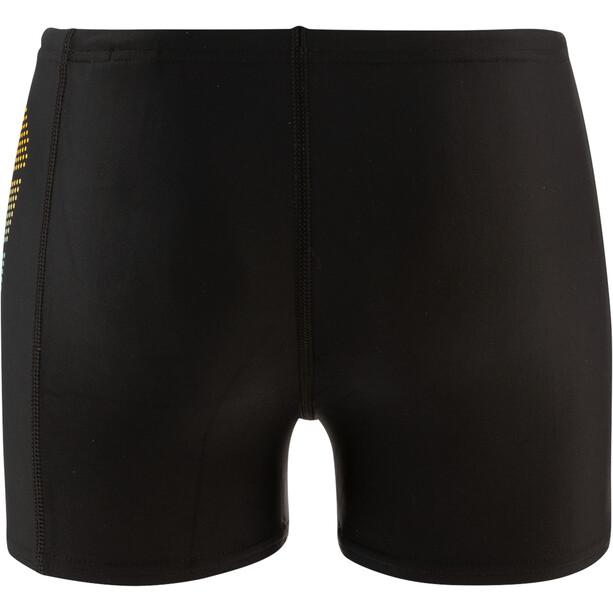 speedo Plastisol Placement Aquashorts Jungen black/turquoise/empire yellow