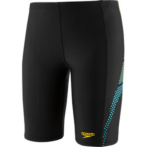 speedo Plastisol Placement Jammer Jungen black/turquoise/empire yellow black/turquoise/empire yellow