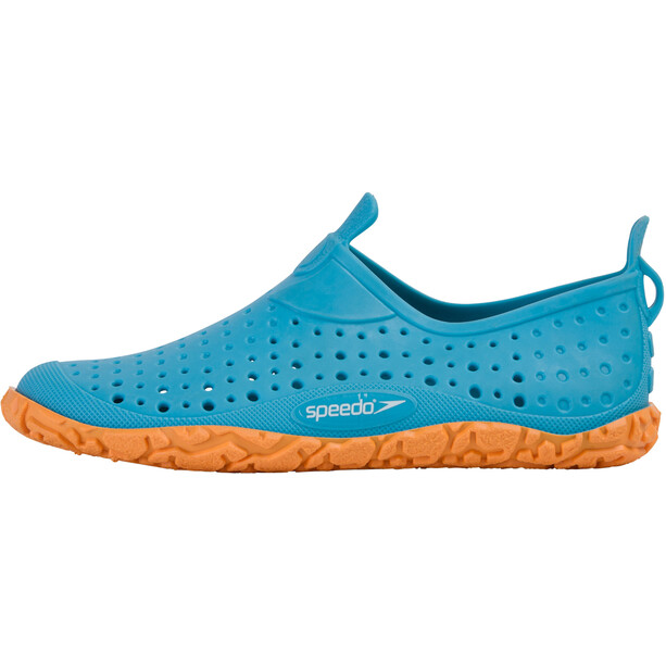 speedo Jelly Chaussures d'eau Enfant, turquoise/orange