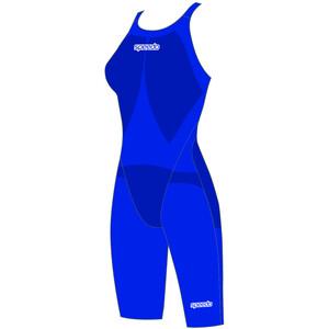 speedo LZR Racer Element Openback Kneeskin Damen beautiful blue beautiful blue