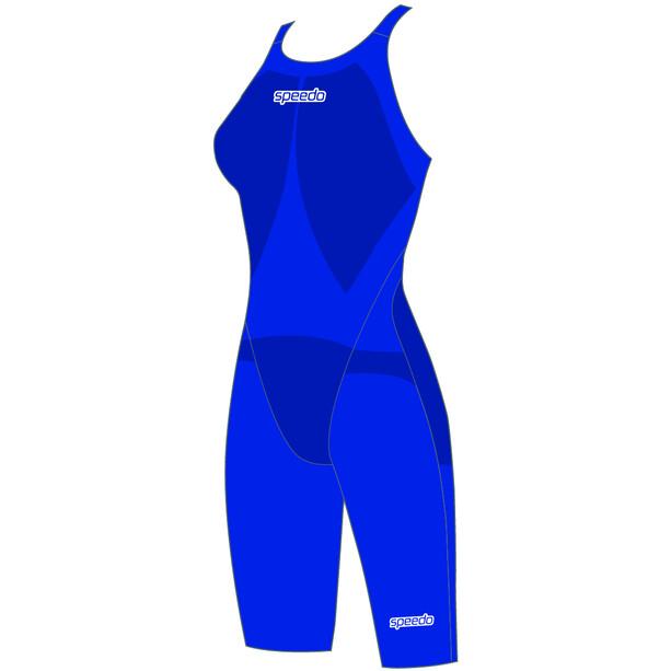 speedo LZR Racer Element Openback Kneeskin Damen beautiful blue