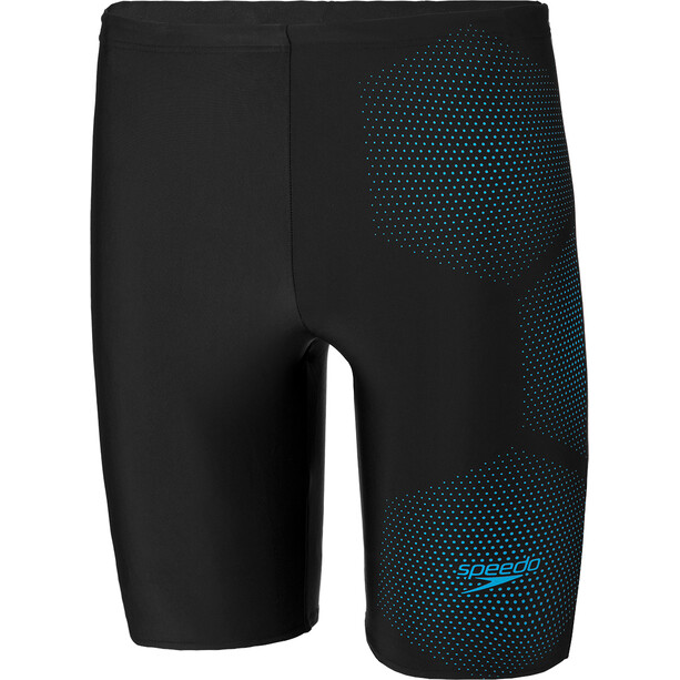 speedo Tech Logo Jammer Herren tech black/pool blue