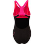 speedo Placement Laneback Badeanzug Damen hex black/psycho red