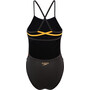 speedo JungleBeast Placement Ribbonback Badeanzug Damen junglebeast black/mango