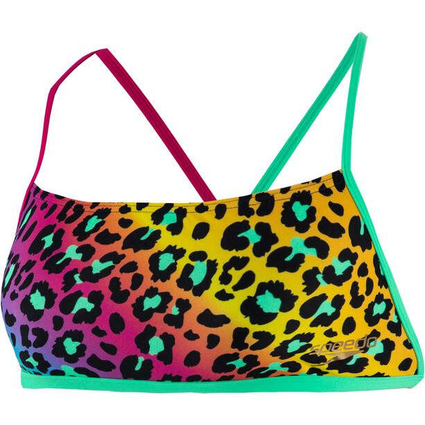 speedo JungleGlare Allover Haut de maillot de bain Croisé dans le dos Femme, Multicolore