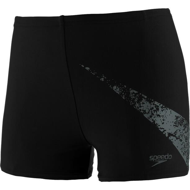 speedo Boomstar Placement Aquashorts Jungen black/oxid grey