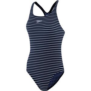 speedo Essentials Endurance+ Medalist Maillot de bain Femme, bleu/blanc bleu/blanc