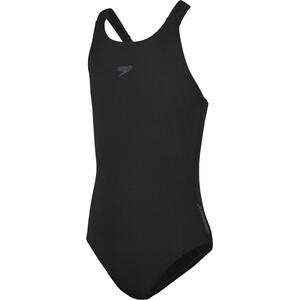 speedo Essentials Endurance+ Medalist Badeanzug Mädchen schwarz schwarz