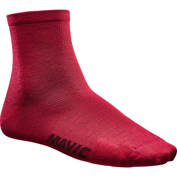 Mavic Essential Merino Mid-Cut Socken red dahlia