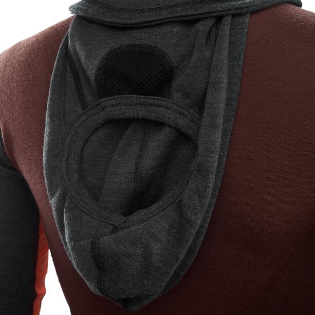 Aclima Warmwool Kapuzensweater mit Zip Damen marengo/bitter chocolate/burnt ochre