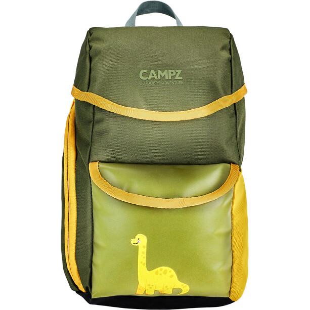 CAMPZ Selkäreppu Lapset, Dino grey/yellow