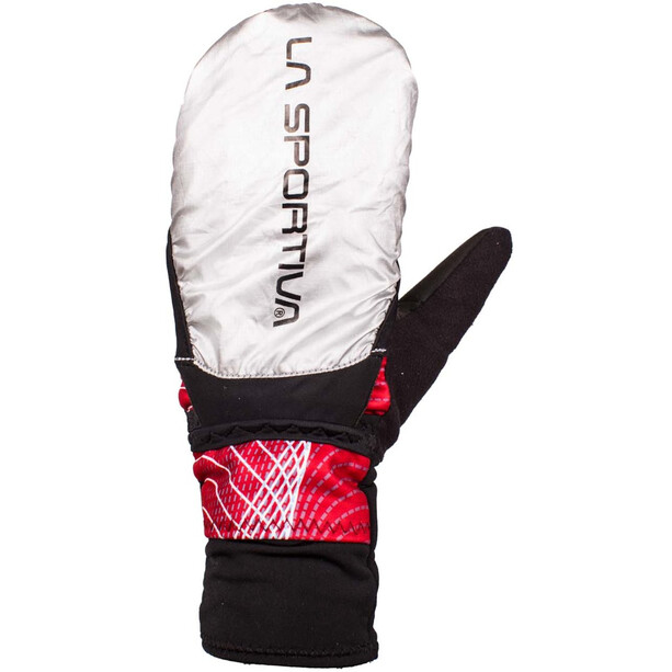 La Sportiva Winter Running Gants Femme, noir/rouge