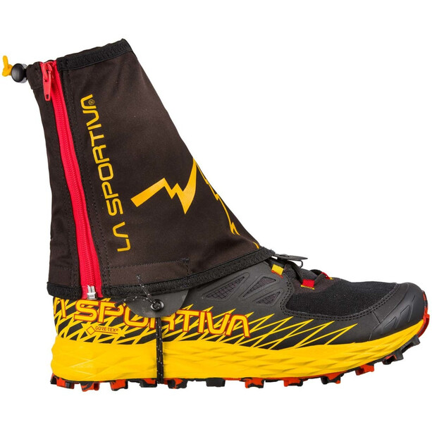 La Sportiva Winter Running Guêtres, black/yellow