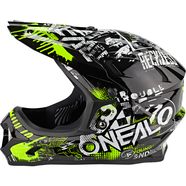 O'Neal Backflip Helm Attack black/neon yellow