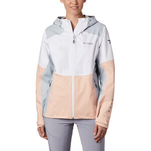 Columbia Titan Pass 2.5L Shell Jacke Damen white/peach cloud/cirrus grey white/peach cloud/cirrus grey