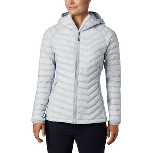 Columbia Powder Pass Kapuzenjacke Damen cirrus grey ferny ferns print cirrus grey ferny ferns print