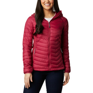Columbia Powder Pass Kapuzenjacke Damen red orchid red orchid