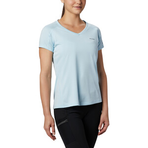 Columbia Zero Rules Kurzarmshirt Damen spring blue heather spring blue heather