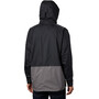 Columbia Rain Scape Jacke Herren black/city grey/black zips