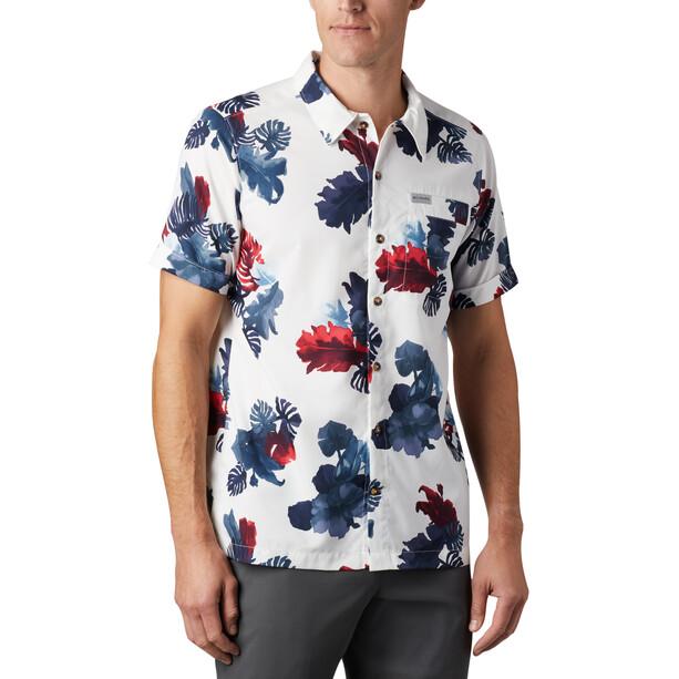 Columbia Outdoor Elmnts Print T shirt Homme, white tropical print