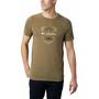 Columbia Nelson Point Graphic Lyhythihainen T-paita Miehet, beige