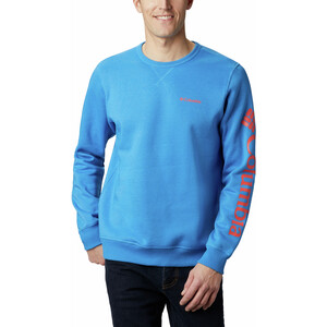 Columbia Logo Fleece Rundhals Sweater Herren azure blue/wildfire logo azure blue/wildfire logo