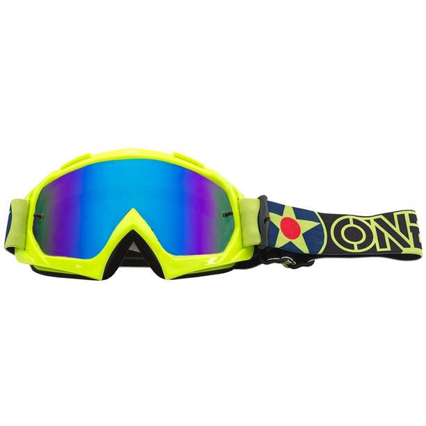 O'Neal B-10 Goggles warhawk neon yellow/black-radium blue