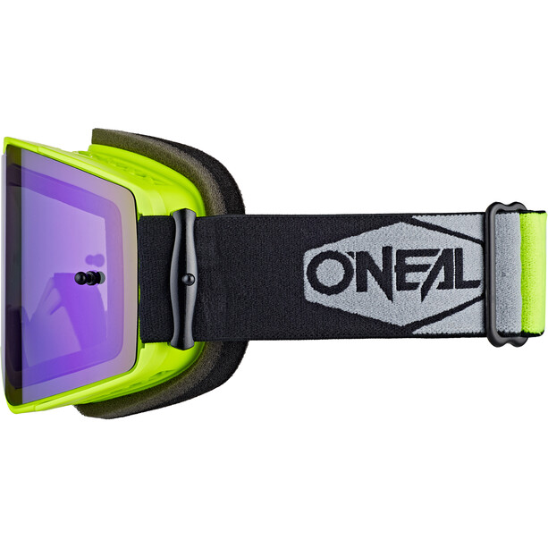 O'Neal B-20 Brille Plain neon yellow/black-radium blue