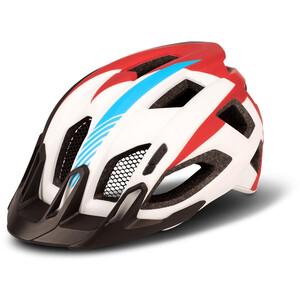 Cube  Quest Teamline ヘルメット ホワイト/ブルー/レッド