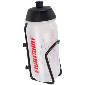 EIGHTSHOT Trinkflasche mit Halterung black/clear black/clear