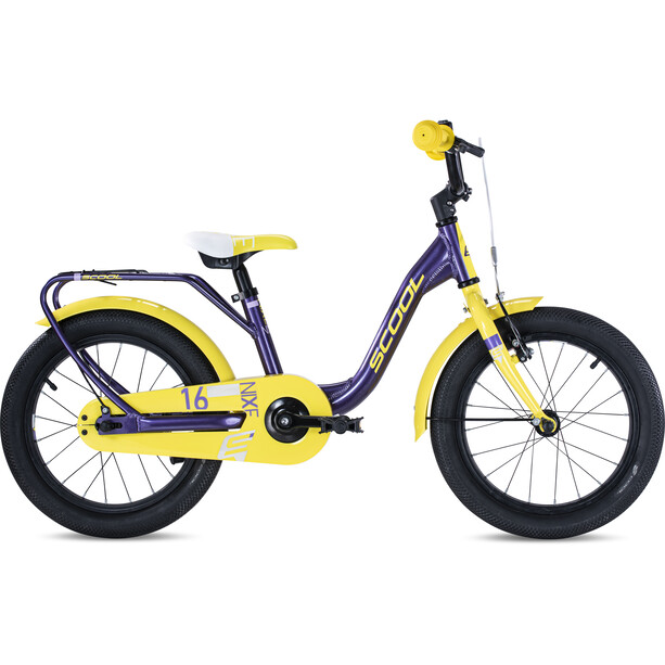 s'cool niXe alloy 16 Kinder purple metalic /yellow