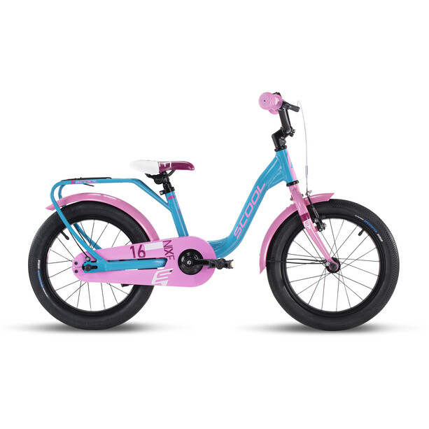 s'cool niXe alloy 16 Kinder turquoise/pink