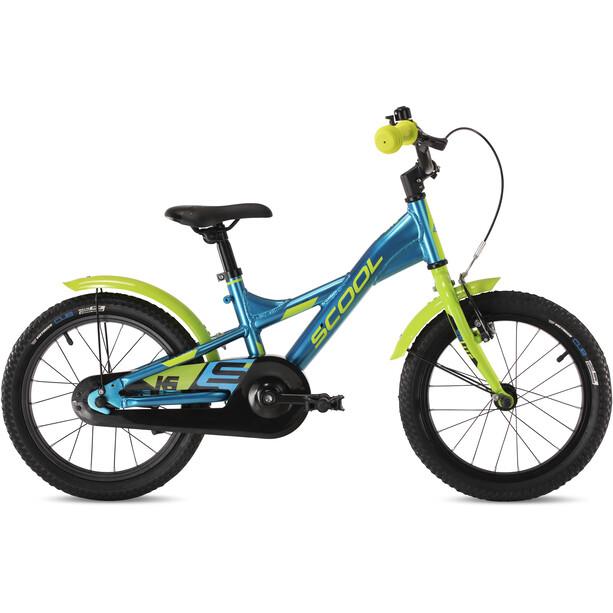 s'cool XXlite alloy 16 Kinder blue/lemon metalic