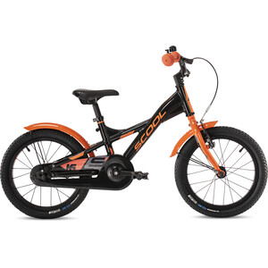 s'cool XXlite alloy 16 Enfant, noir/orange noir/orange