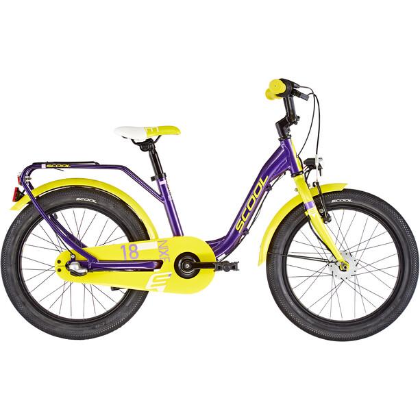 s'cool niXe alloy street 18 3-S Kinder purple metalic /yellow
