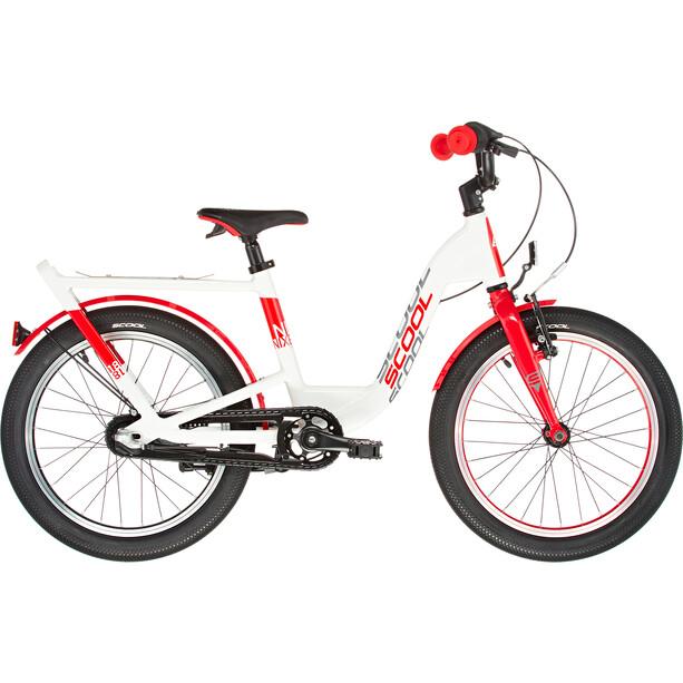 s'cool niXe EVO 18 Kinder pearlwhite/red